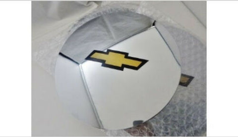 "ESCALADE 17"" AND 20"" CHEVROLET GOLD BOWTIE LOGOS CENTER CAPS SET OF 4"