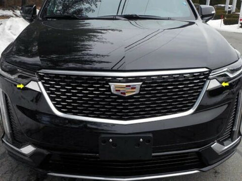 Cadillac XT6 STAINLESS STEEL 2PC HEADLIGHT ACCENT