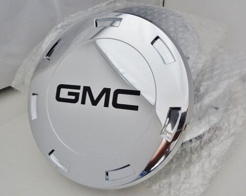 "ESCALADE 22"" BLACK GMC LOGOS CENTER CAPS 2007 THRU 2009 SET OF 4"