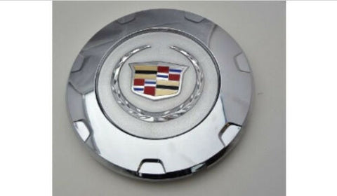 "ESCALADE 22"" FACTORY COLORED WREATH AND CREST CHROME 2010 THRU 2014 SET OF 4"