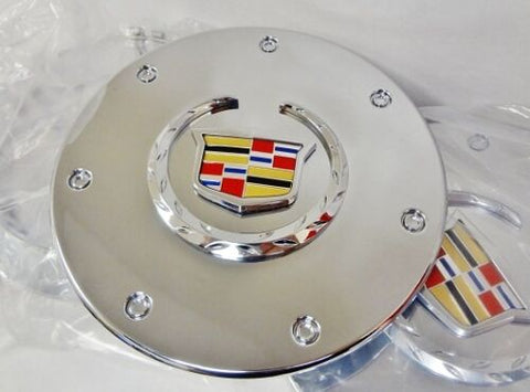 CTS CHROME FACTORY EMBLEM CENTER CAPS SET OF 4 2003 AND 2004 ONLY
