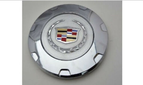 "ESCALADE 22"" FACTORY COLORED WREATH AND CREST CHROME SINGLE CENTER CAP 2010 THRU 2014"