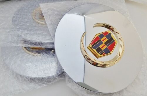 "ESCALADE 17"" AND 20"" GOLD FACTORY STYLE EMBLEM CENTER CAPS SET OF 4"