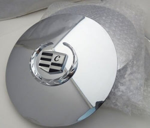 "ESCALADE 17"" AND 20"" CHROME LUXURY EMBLEM CENTER CAPS SET OF 4"
