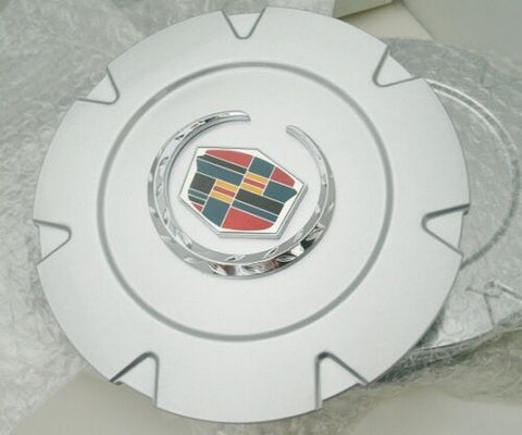 "ESCALADE 18"" CHROME FACTORY STYLE EMBLEM SILVER CENTER CAPS SET OF 4"
