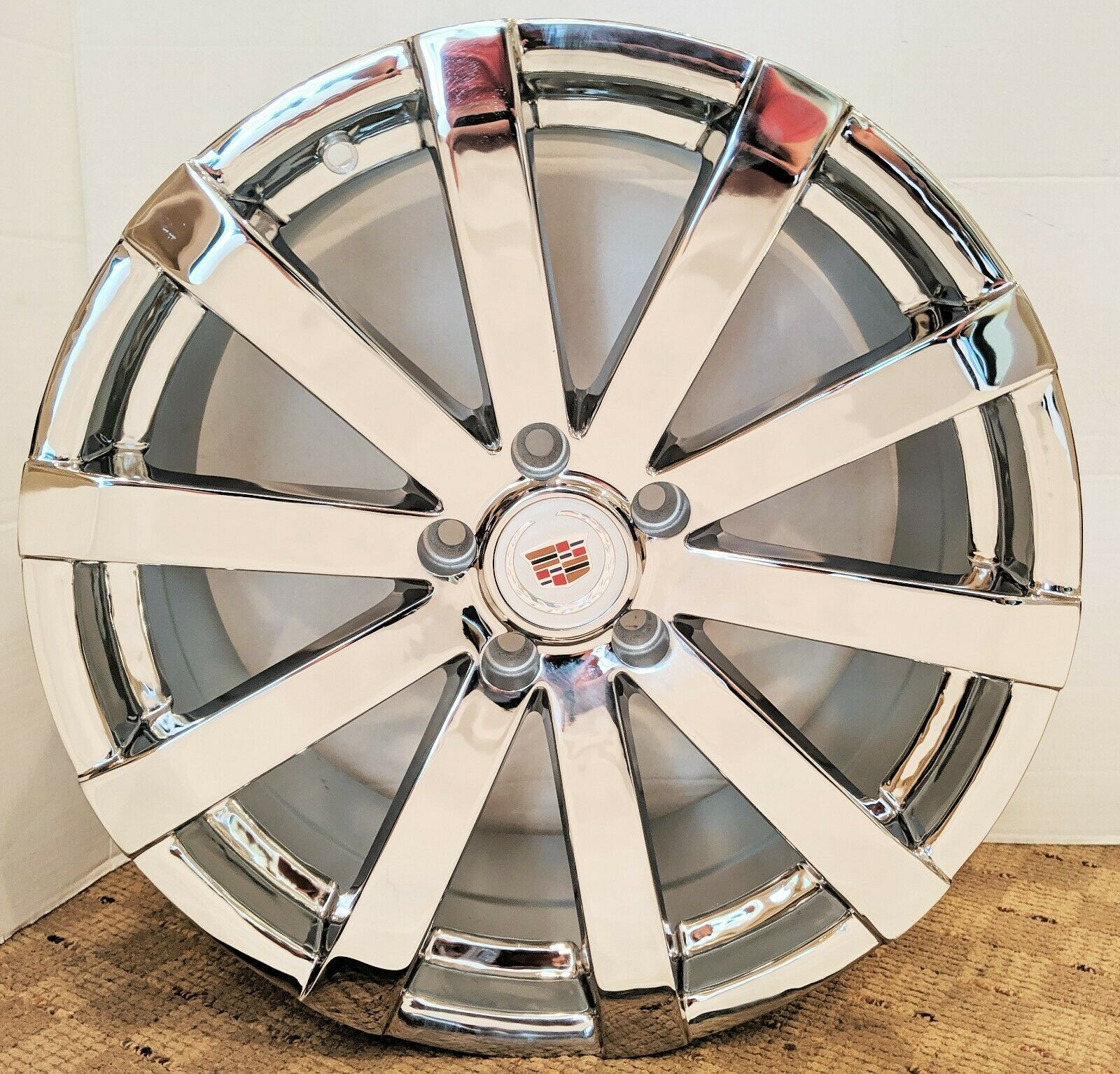 "FACTORY STYLE CHROME CADILLAC 18"" X 8.5"" SET OF 4 WHEELS"