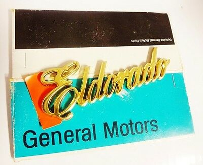 ELDORADO GOLD COMMEMORATIVE EDITION ONLY SCRIPT EMBLEM 1985