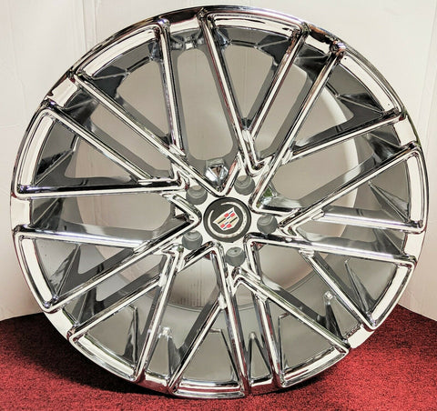 "DOUBLE X CHROME 20"" X 8.5"" SET OF 4 WHEELS"