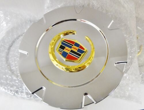 "ESCALADE 18"" GOLD FACTORY STYLE EMBLEM CENTER CAPS SET OF 4"