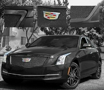 E&G CADILLAC ATS CLASSIC BLACK ICE HEAVY MESH GRILLE - UPPER ONLY 1008-010U-15HB