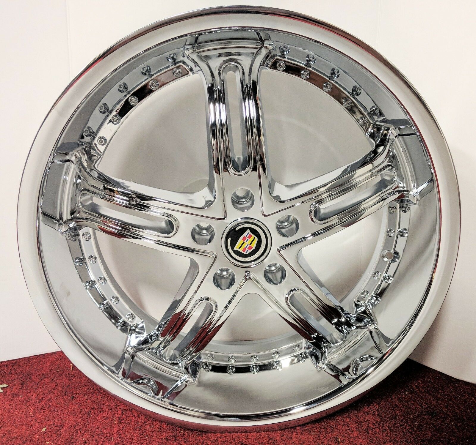 "LIP STYLE CHROME 20"" X 8.5"" SET OF 4 WHEELS"