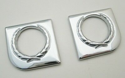 2pc Chrome Door Lock Trim