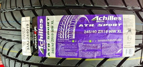 ACHILLES ATR SPORT 245-40ZR19 XL 98W AA A SINGLE TIRE