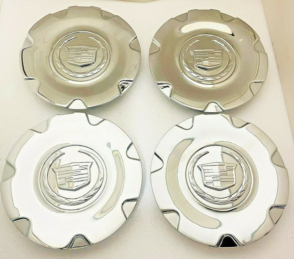 "XLR 18"" ALL CHROME PLATED METAL FACTORY CENTER CAPS SET OF 4 GM 9596991"