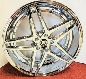 "JERSEY STAR CHROME 20"" X 8.5"" SET OF 4 WHEELS"
