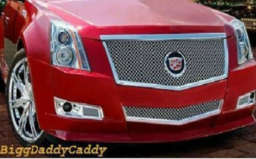 E&G CADILLAC CTS 2PC CLASSICS HEAVY MESH GRILLE 1007-0104-08
