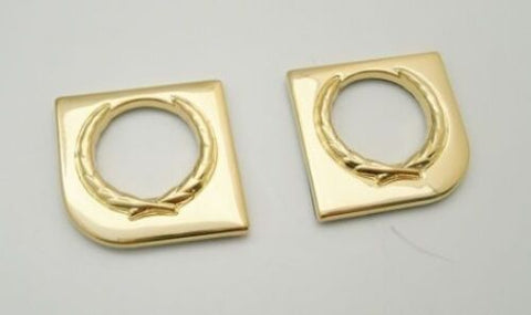 2pc 24k Gold Door Lock Trim