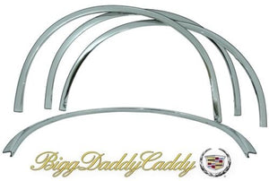 ESCALADE ESV CHROME FENDER TRIM LIP MOLDING SET 2007-2014