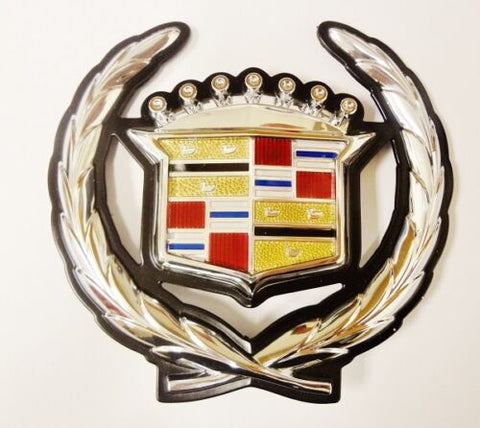 ELDORADO CHROME GRILLE WREATH AND CREST EMBLEM 1992-1994