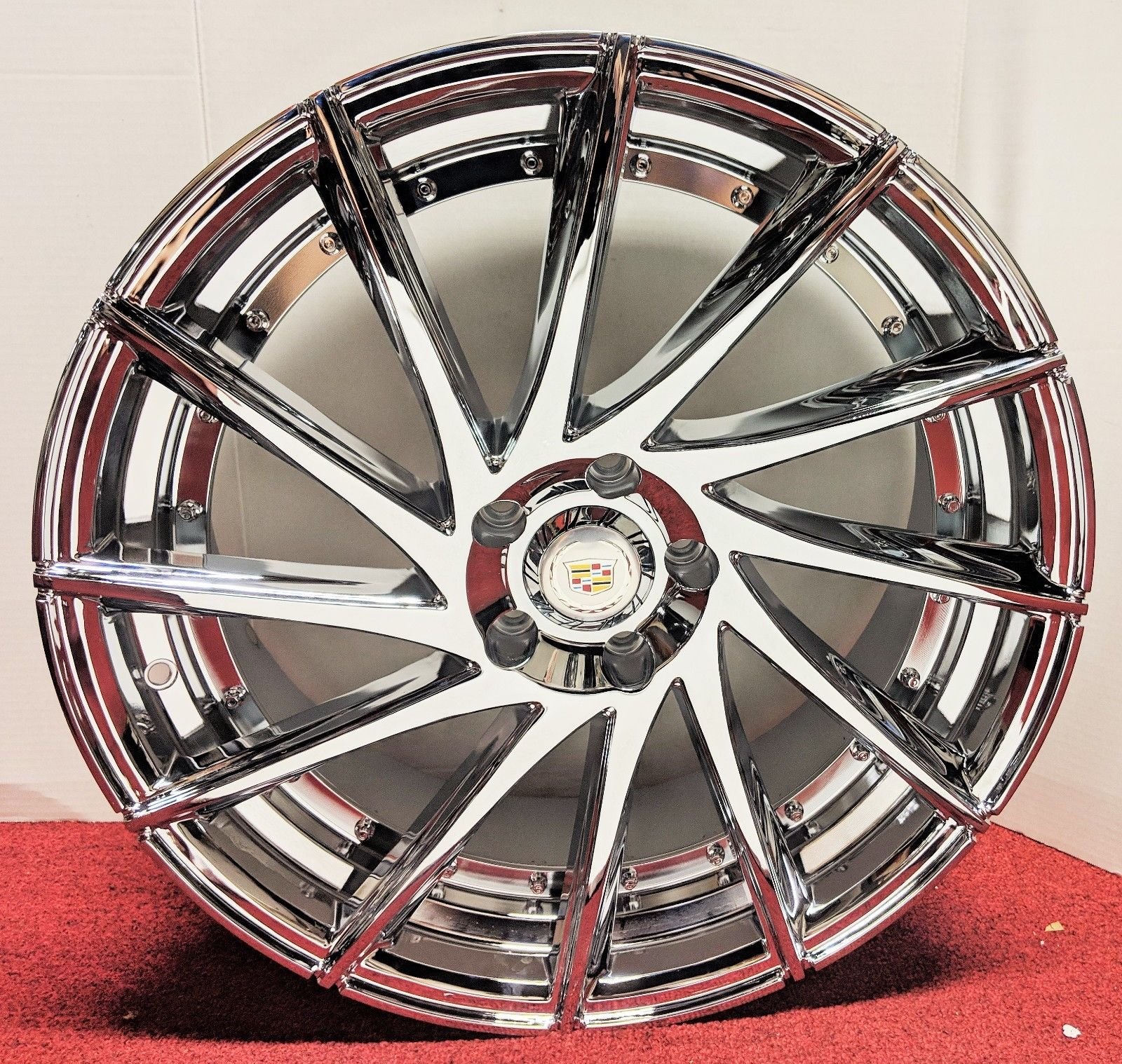 "SLIM SLOW TWIST CHROME 20"" X 8.5"" SET OF 4 WHEELS"