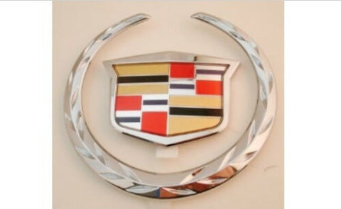 STS CHROME GRILLE WREATH AND CREST EMBLEM 2005-2007