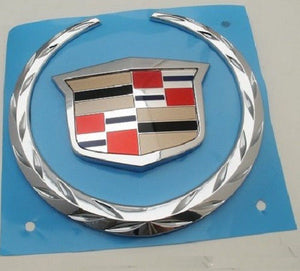 STS-V CHROME GRILLE WREATH AND CREST EMBLEM