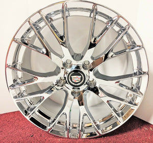 "XLR XLR V CHROME PLATED PERFECT FIT 19"" X 8.5"" SET OF 4 WHEELS"