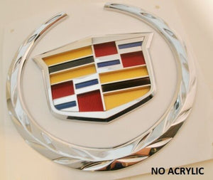 XTS CHROME REAR TRUNK WREATH AND CREST EMBLEM 2013-2015