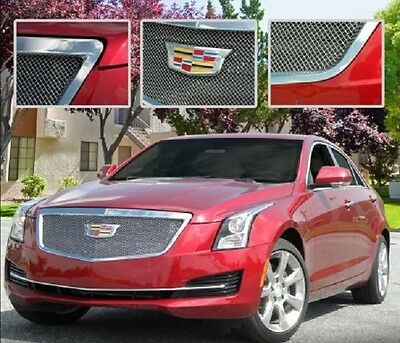 E&G CADILLAC ATS CLASSIC DUAL WEAVE GRILLE - UPPER ONLY 1008-010U-15D