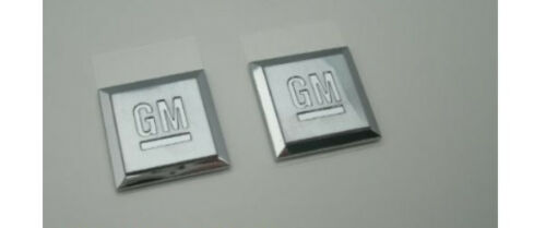SMALL GM SQUARE CHROME EMBLEM PAIR