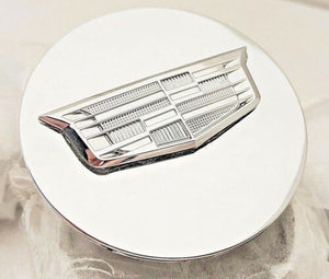 CADILLAC NEW STYLE CHROME CENTER CAP WITH CHROME CREST XT4 XT5 XT6 CT5 CT6 SET OF 4 FLAT