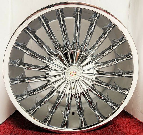 "NUGGET CHROME 20"" X 8.5"" SET OF 4 WHEELS"