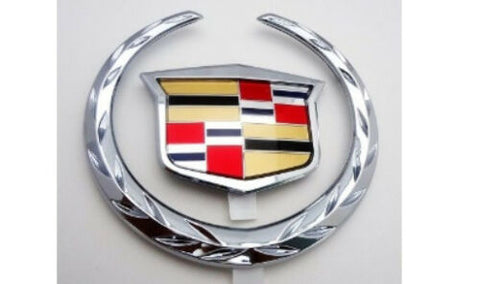 STS PLATINUM EDITION CHROME GRILLE WREATH AND CREST EMBLEM 2005-2007