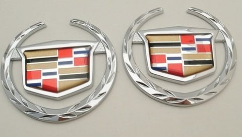 STS CHROME 1 PIECE EMBLEM PAIR