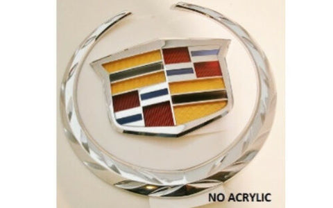 ATS CHROME GRILLE WREATH AND CREST EMBLEM 2013-2015