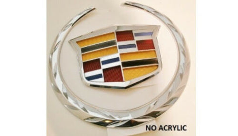 XTS CHROME GRILLE WREATH AND CREST EMBLEM 2013-2015