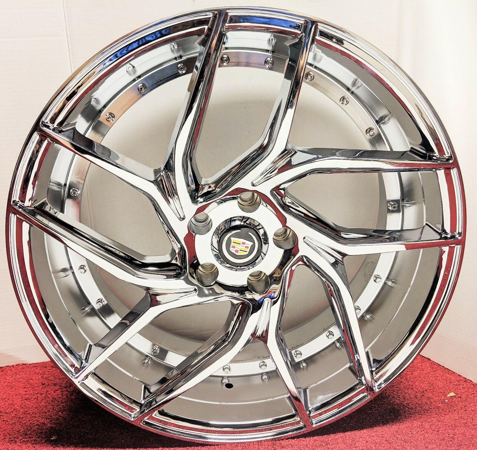"SPIDER CHROME 20"" X 8.5"" SET OF 4 WHEELS"