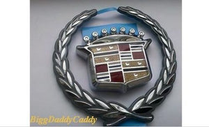 ESCALADE CHROME GRILLE WREATH AND CREST EMBLEM 1999-2001