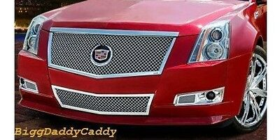 "E&G CADILLAC CTS 2PC ""E SERIES"" BLACK ICE HEAVY MESH GRILLE 1007-B104-08E"