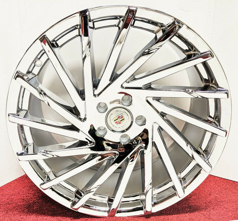 "EDGE CHROME 20"" X 8.5"" SET OF 4 WHEELS"