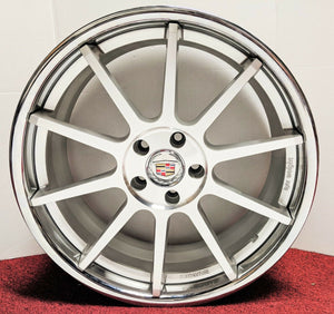 "SILVER MACHINE FACE WITH STAINLESS STEEL LIP 20"" X 8.5"" SET OF 4 WHEELS"