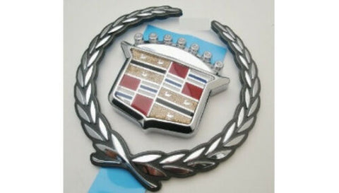 SEVILLE STS SLS CHROME GRILLE WREATH AND CREST EMBLEM 1998-2001