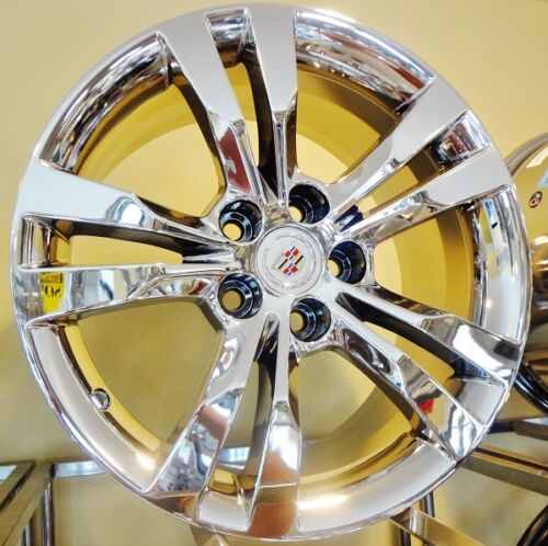 "CTS COUPE CHROME 18"" X 8.5"" AND 18"" X 9.5"" OE SPEC SET OF 4 WHEELS"
