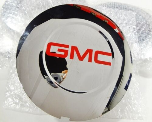 "ESCALADE 22"" RED GMC CENTER CAPS 2015 THRU 2020 SET OF 4 DOMED"