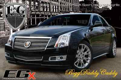 E&G CADILLAC CTS 2PC EGX SPORT CHROME FINE MESH GRILLE - BLACK ICE METALLIC 1007-0502-08BM