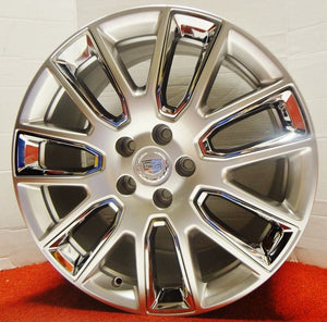 "ATS 19"" STAGGERED ULTRA SILVER WITH CHROME INSERTS GENUINE FACTORY GM SET OF 4 WHEELS"