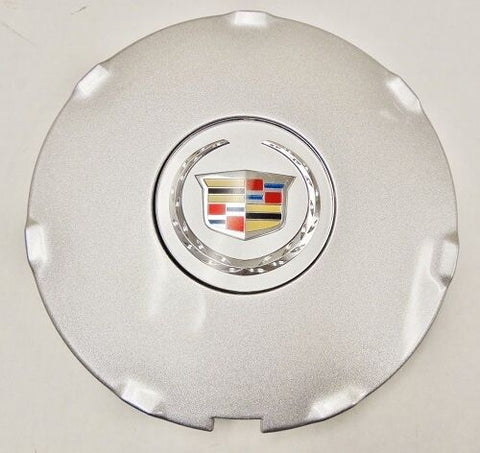 "CTS 17"" SINGLE CHROME FACTORY OEM SILVER CENTER CAP 2008 AND 2009"