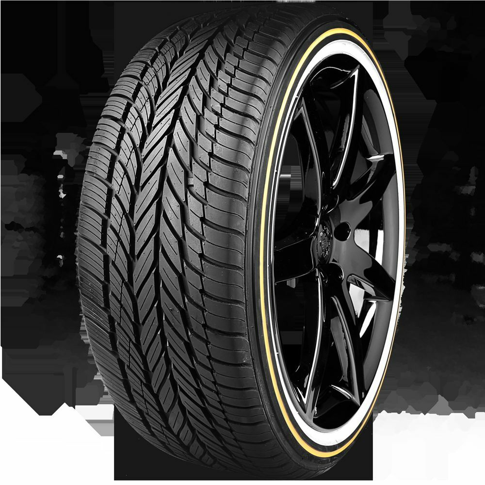 VOGUE TYRE 245-40R20 WHITE AND GOLD SET OF TWO