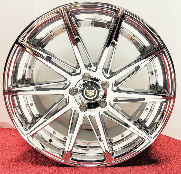 "CLASSIC GROOVE CHROME 20"" X 8.5"" SET OF 4 WHEELS"