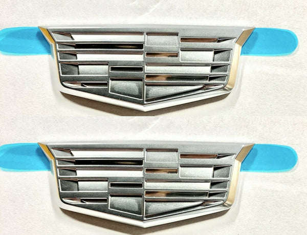 SET OF 2!! Cadillac CHROME CREST 3 INCH!!